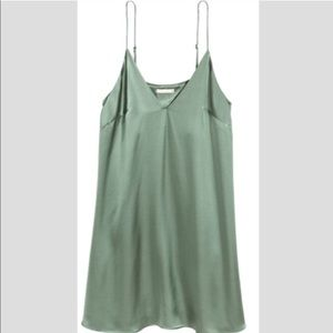 H&M Satin Green Slip dress 8